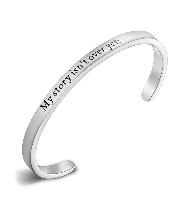 Semicolon Stamped Suicide Awareness Bracelet