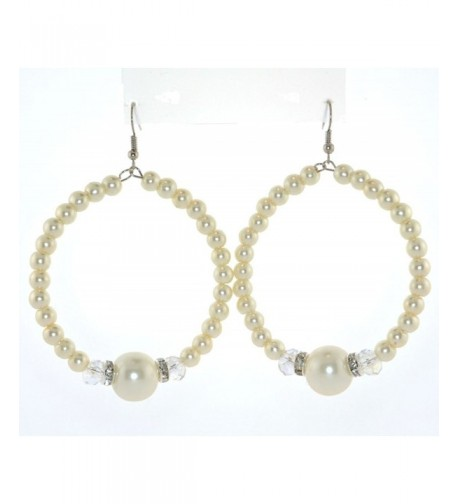 Dangle Pearl Crystal Ear wire Earrings