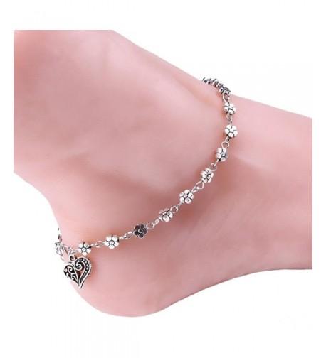Tenworld Silver Anklet Bracelet Barefoot