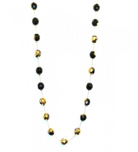 Necklace Handcrafted Ombre Goldtone Black