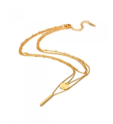 Plated Chain Circle Choker Necklace