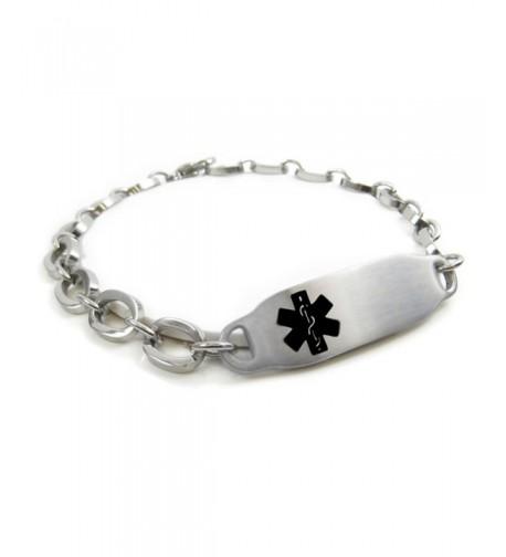 MyIDDr Pre Engraved Customizable Epilepsy Bracelet