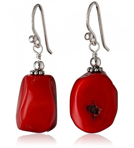 Barse Basics Bamboo Coral Earrings