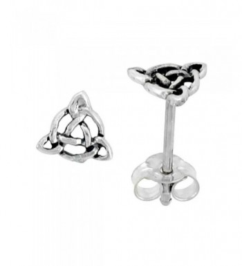 Sterling Silver Triquetra Celtic Earrings