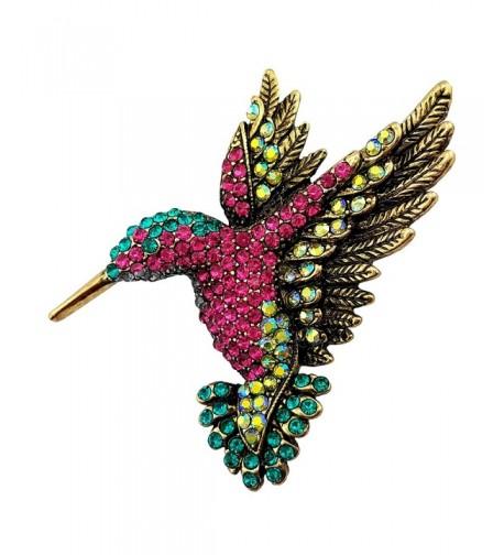 SELOVO Antique Hummingbird Austrian Crystal