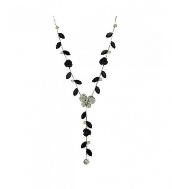 Glamorousky Butterful Necklace Austrian Crystals