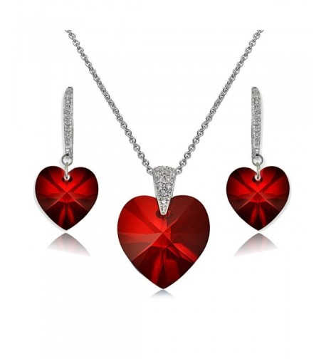 Sterling Necklace Earrings Created Swarovski