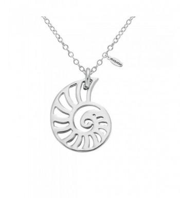 NOUMANDA Silver Seashell Necklace Necklaces