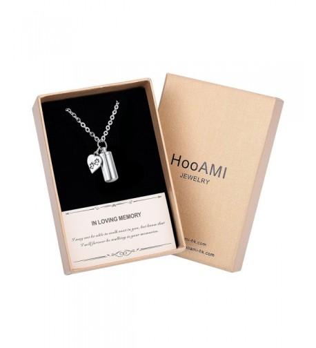 HooAMI Cremation Cylinder Memorial Necklace