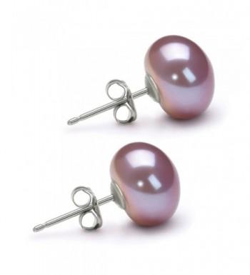 Lavender Freshwater Cultured Earrings Sterling