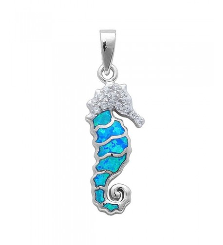 Created Zirconia Sterling Silver Pendant