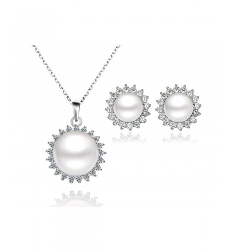 Sunshine Freshwater Zirconia Sterling Necklace