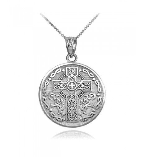 Sterling Reversible Blessing Pendant Necklace