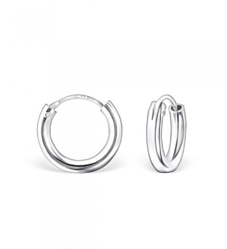 Sterling Silver Plain Endless Earrings