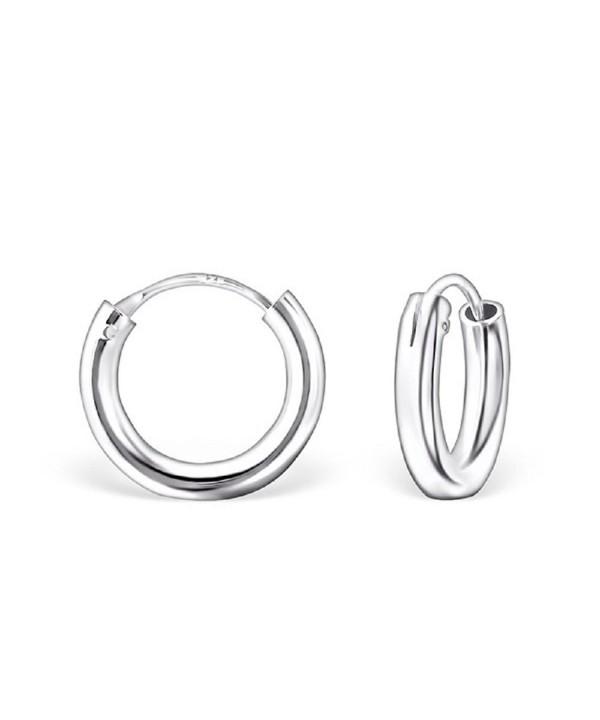 Sterling Silver Plain Endless Earrings