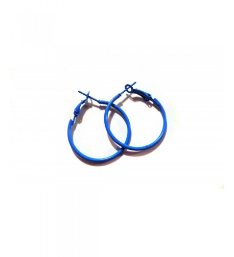 Color Hoop Earrings Simple Thin