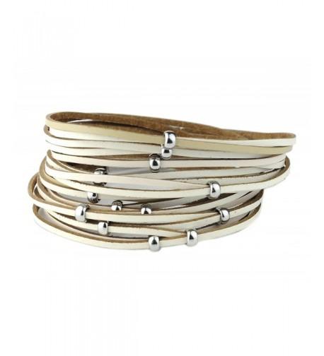 Genuine Multicolor Magentic Bracelet Silver Tone