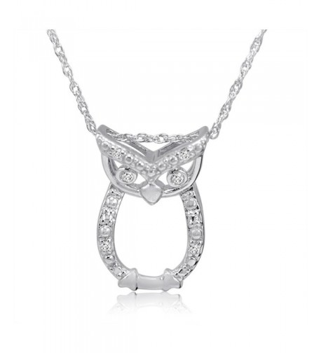 Sterling Silver Diamond Pendant Necklace 18inch