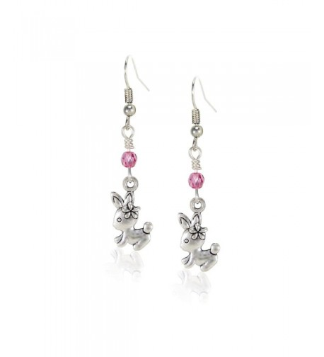 Handcrafted Silvertone Earrings Swarovski Crystals