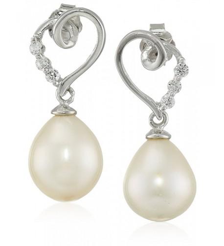 Bella Pearl Heart Shaped Earrings