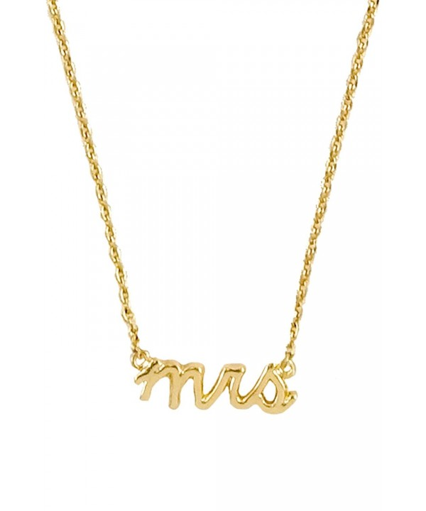 Verbiage Delicate Pendant Necklace Mrs