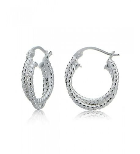 Sterling Silver Intertwining Rope Earrings