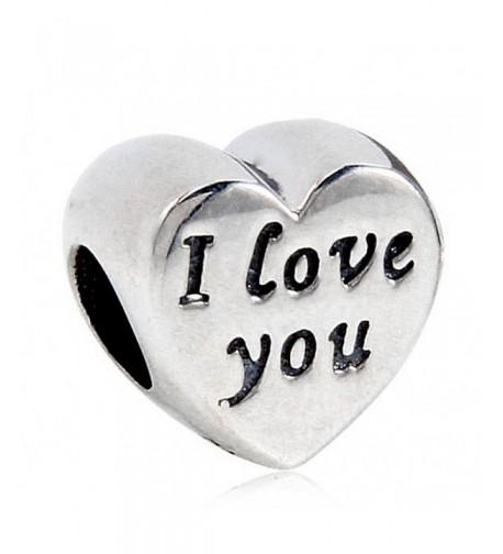 Heart Charm Sterling Silver Bracelets