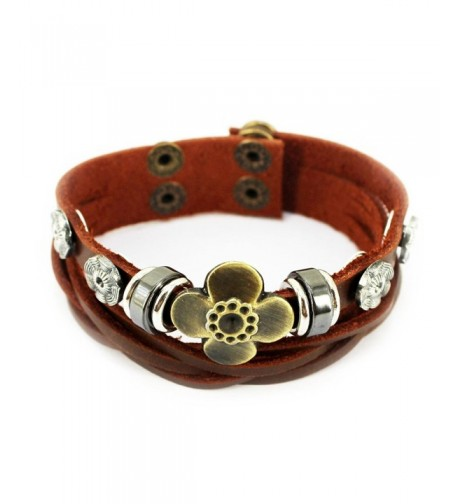 Vintage Adjustable Studded Sunflower Bracelet