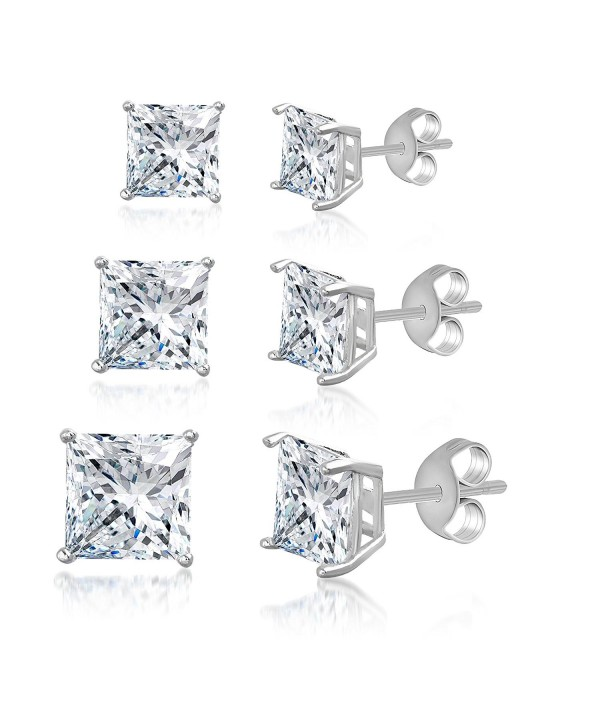 Mia Sarine Princess Earring Sterling