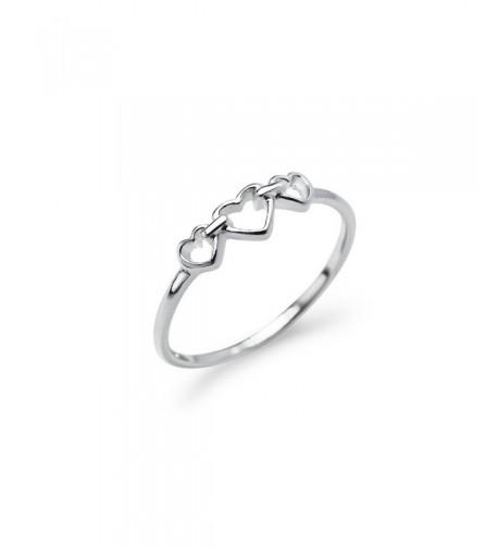Triple Heart Interlocked Infinity Ring