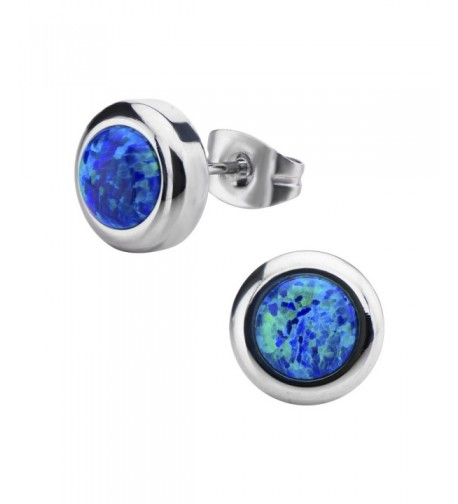 Womens Stainless Steel Synthetic Earrings