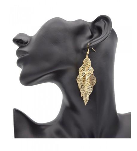 Maying Womens Gold tone Dangle Earrings