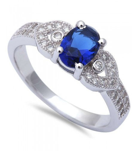 Simulated Sapphire Zirconia Fashion Sterling