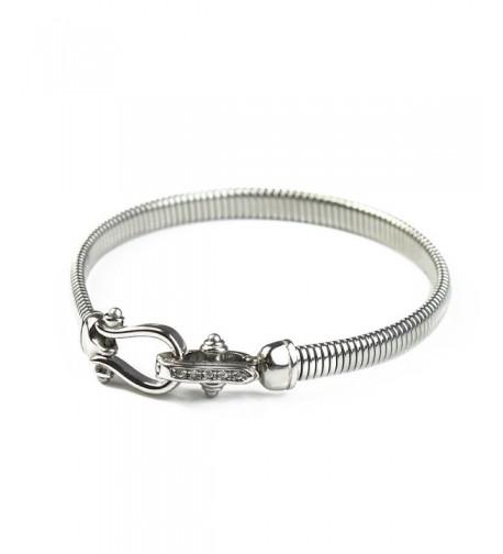 Stainless Bracelet BAYUEBA Square Platinum