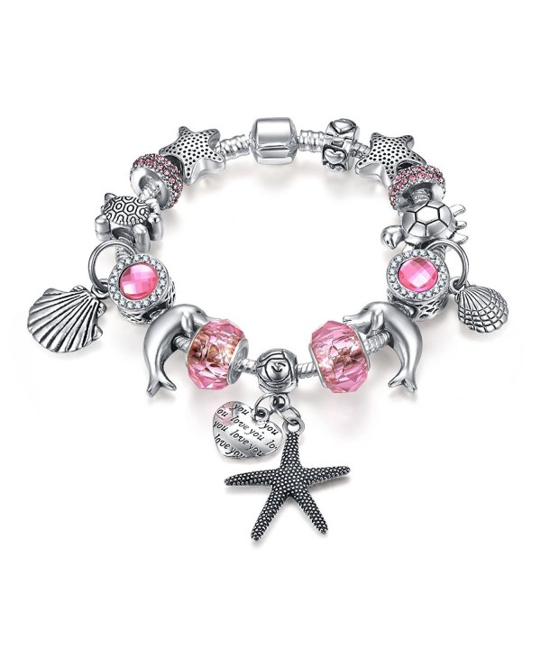 Presentski European Bracelet Seashell Starfish
