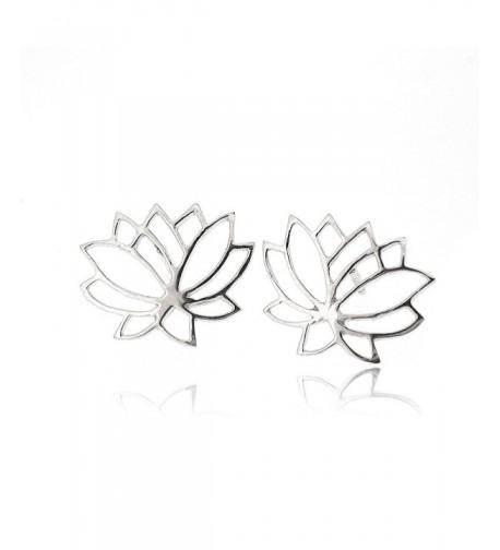 Sovats Flower Earring Sterling Rhodium