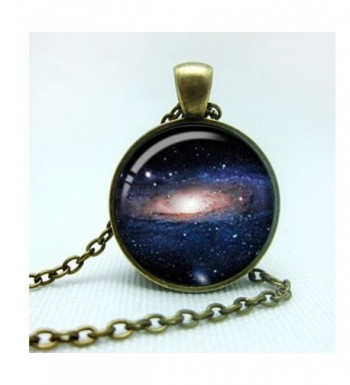 Galaxy Planets Pattern Pendant Necklace