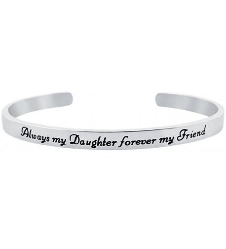 Daughter Bracelet Inspirational Sentimental Stainless