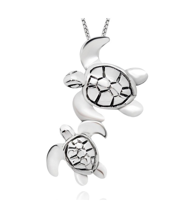 Sterling Silver Turtle Pendant Neacklace
