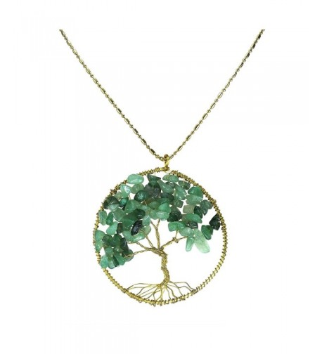 Green Quartz Stone Eternal Necklace