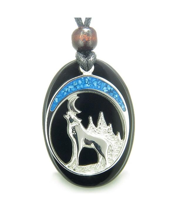 Howling Spiritual Gemstone Pendant Necklace