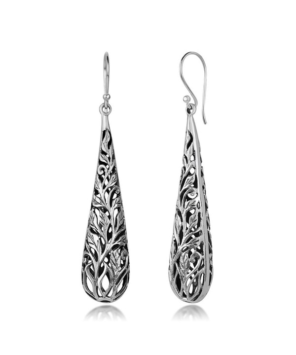 1c831adba 925 Oxidized Sterling Silver Bali Inspired Open Filigree Puffed ...