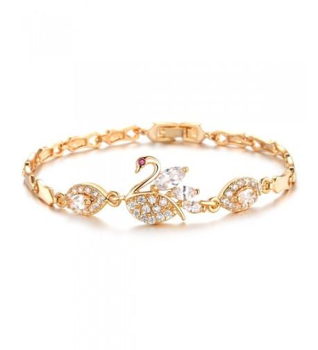 Plated Cubic Zirconia Tennis Bracelet