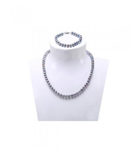 7 7 5mm Freshwater Pearl Necklace Bracelet