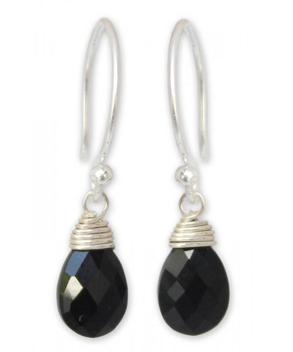 NOVICA Spinel Sterling Earrings Glowing