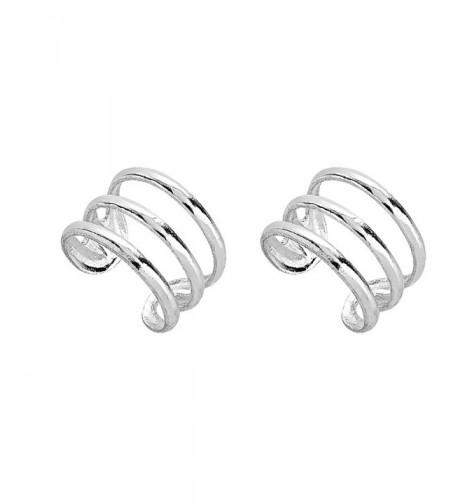 Sterling Silver Three Pierce Earrings