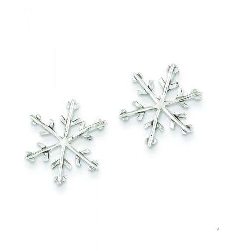 Sterling Silver Snowflake Post Earrings