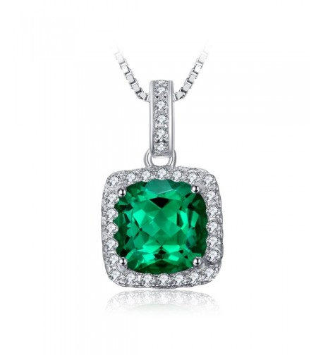 JewelryPalace Cushion Simulated Necklace Sterling
