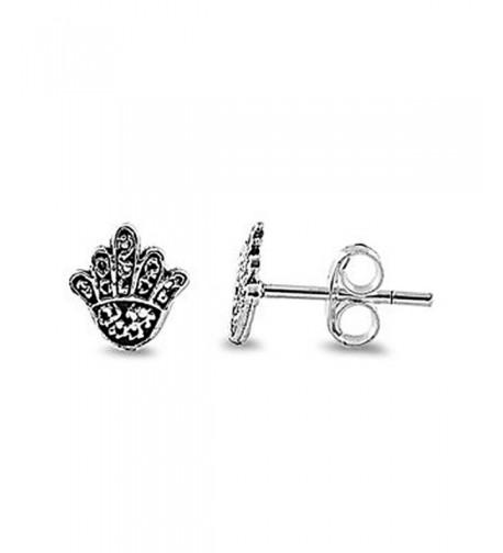 Sterling Silver Hamsa Fatima Earrings