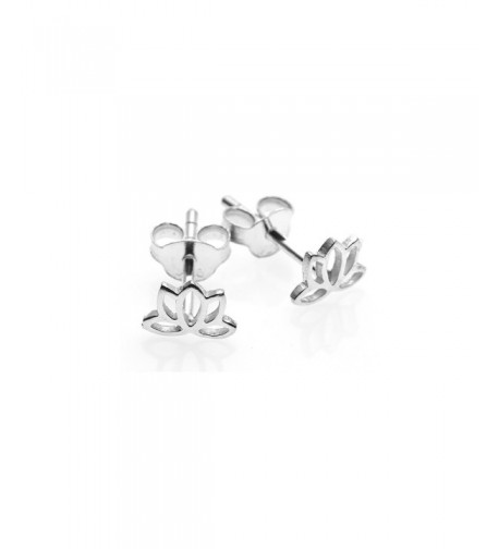 Sterling Silver Tiny Lotus Earrings